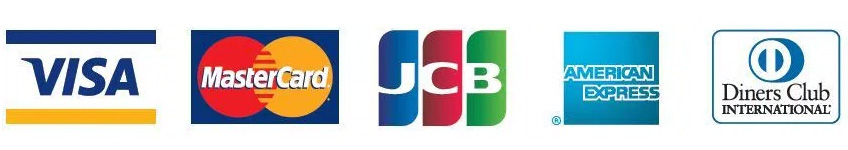Visa・MasterCard・JCB・American Express・Diners